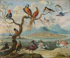 Ansichten aus den vier Weltteilen mit Szenen von Tieren: St. Merryn