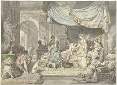 Antiochus probeert de liefde voor zijn moeder Stratonice te verbergen