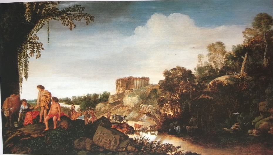 Arcadian Landscape with Ruins and Herdsmen