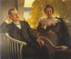 Author Per Hallström and his wife Helga