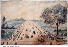 Avenida Paulista no dia da Inauguração, 8 de Dezembro de 1891