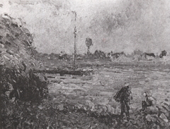 Banks of the Oise, the Countryside near Pontoise (study)