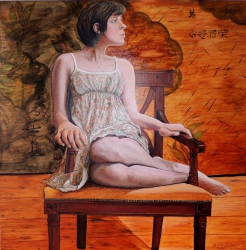 """Beauty"", oil on linen, 80 x 80 cm"