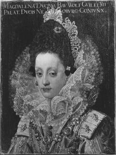 Bildnis der Herzogin Magdalena von Bayern, Gemahlin Herzog Wolfgang Wilhelms von Pfalz-Neuburg, im Hochzeitsstaat (1597-1628) (Kopie nach)
