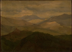 Bjerglandskab ved Civitella