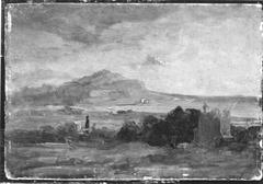 Blick auf den Monte Pellegrino mit Palermo (Nachfolger)