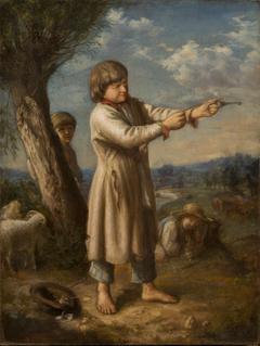 Boy Shooting with a Key