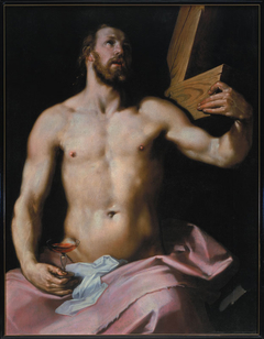 Christ with the cross and the chalice
