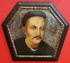 Coffin portrait of a man of Tępa Podkowa coat of arms.