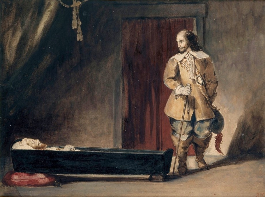 Cromwell before the Coffin of Charles I
