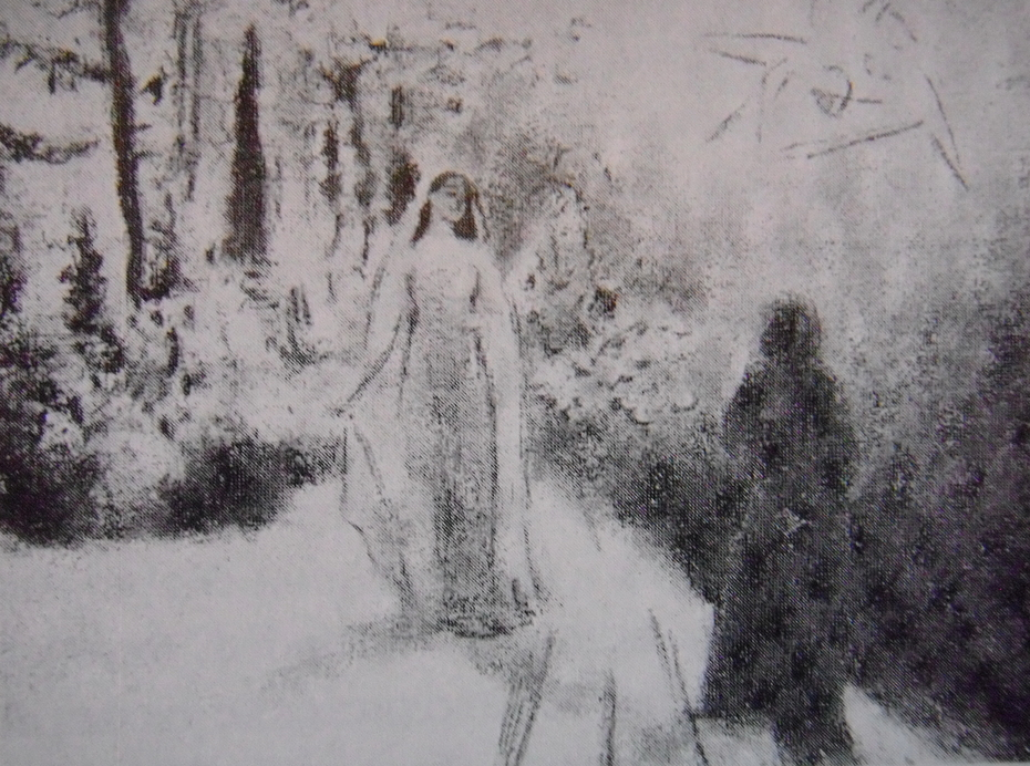 Dante and Beatrice meeting