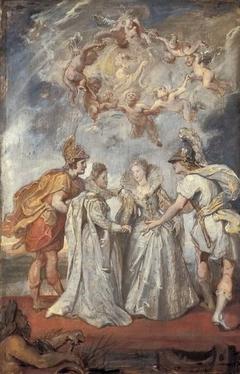 Die Familienverbindung zwischen Frankreich und Spanien (Skizze zum Medici-Zyklus)