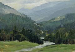 """Erzgebirge (aus der Mappe """"16 Ansichten tschechischer Landschaften 'Česka Krajiná'"""")"""