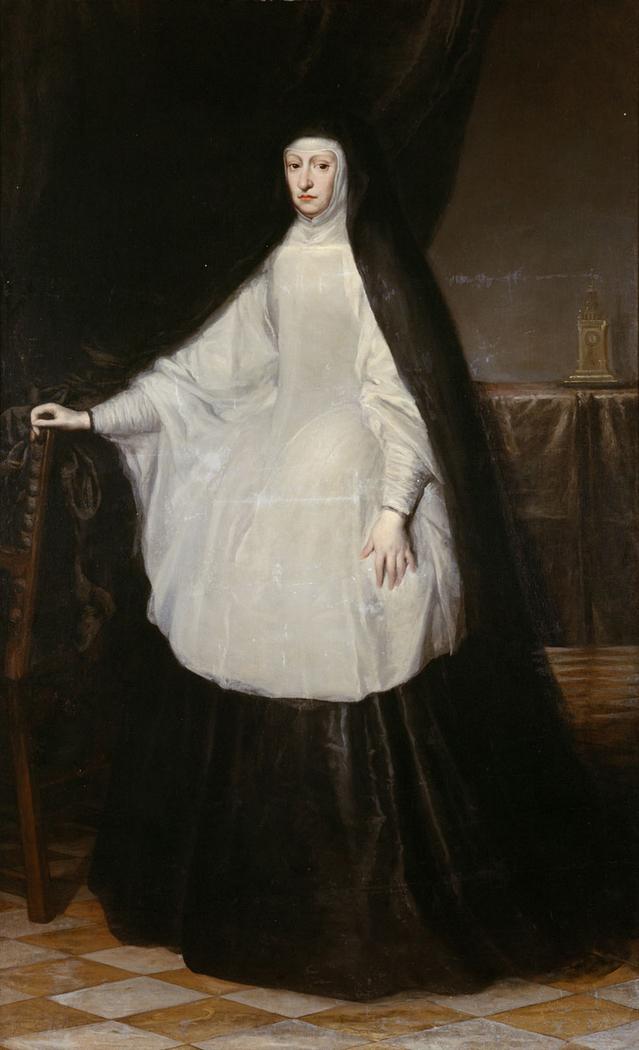 Erzherzogin Maria Anna, Königin von Spanien, als Witwe