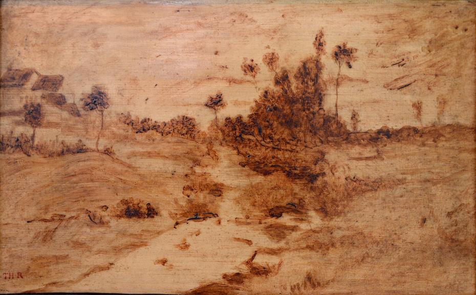 Esquisse de paysage en brun