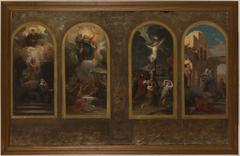 Esquisse pour l'église Notre-Dame-de-la-Croix : L'Annonciation - L'Assomption - Stabat Mater - La Visitation