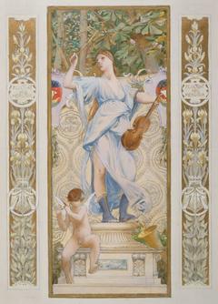 Esquisse pour l'escalier des Fêtes de l'Hôtel de Ville de Paris : La Musique