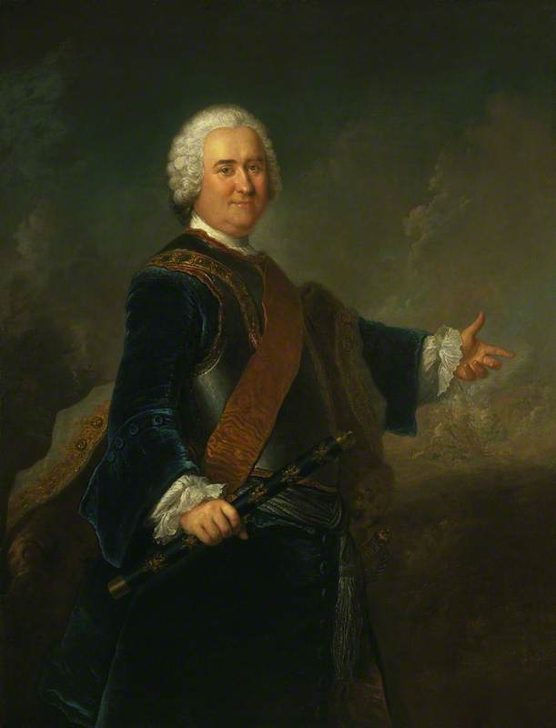 Field Marshal James Francis Edward Keith, 1696 - 1758. Soldier in Russian and Prussian service