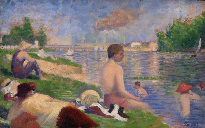 "Final Study for ""Bathers at Asnières"""