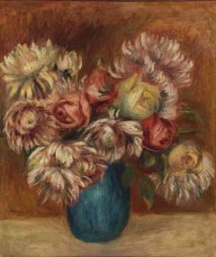 Flowers in a Green Vase (Fleurs dans un vase vert)