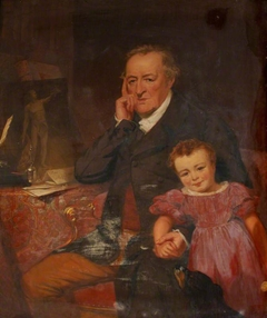 George O'Brien, 3rd Earl of Egremont (1751-1837) and his Granddaughter  the Hon. Caroline Sophia Wyndham, later Mrs Kingscote (1829-1852)