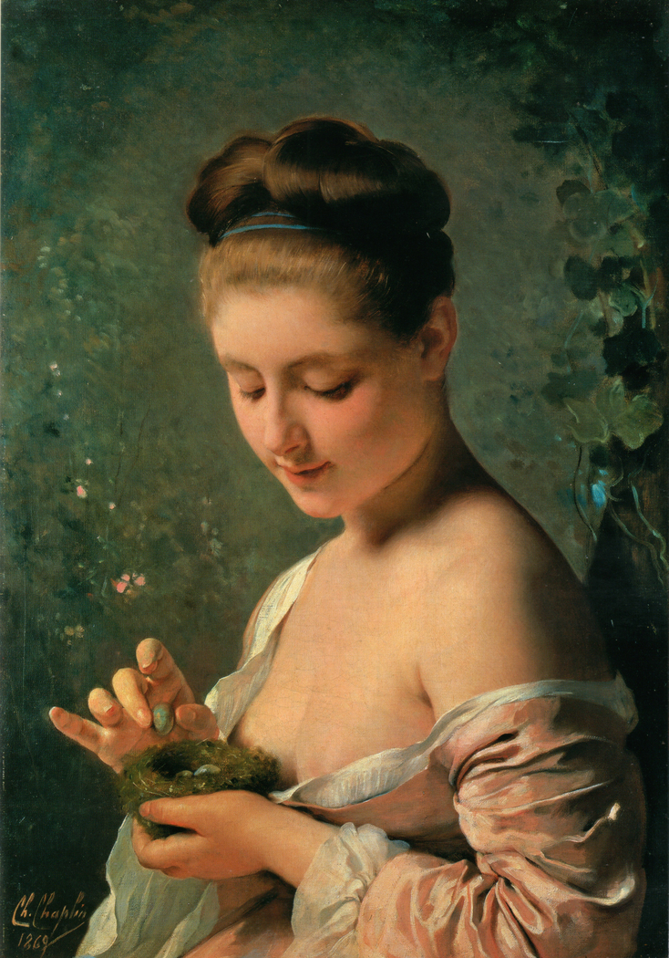 Girl with a Nest