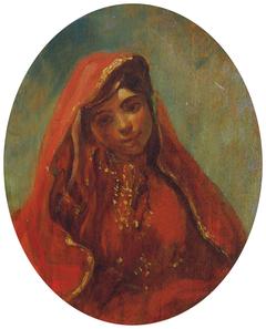 Halbfigur einer Marokkanerin