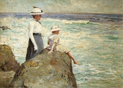 Hester and Helen Hitchcock at Black Point