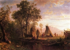 Indian Encampment, Late Afternoon