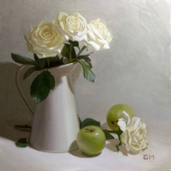 Ivory Roses and Apples
