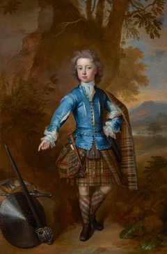 John Campbell, 3rd Earl of Breadalbane, 1696 - 1782. (as a child in highland costume)