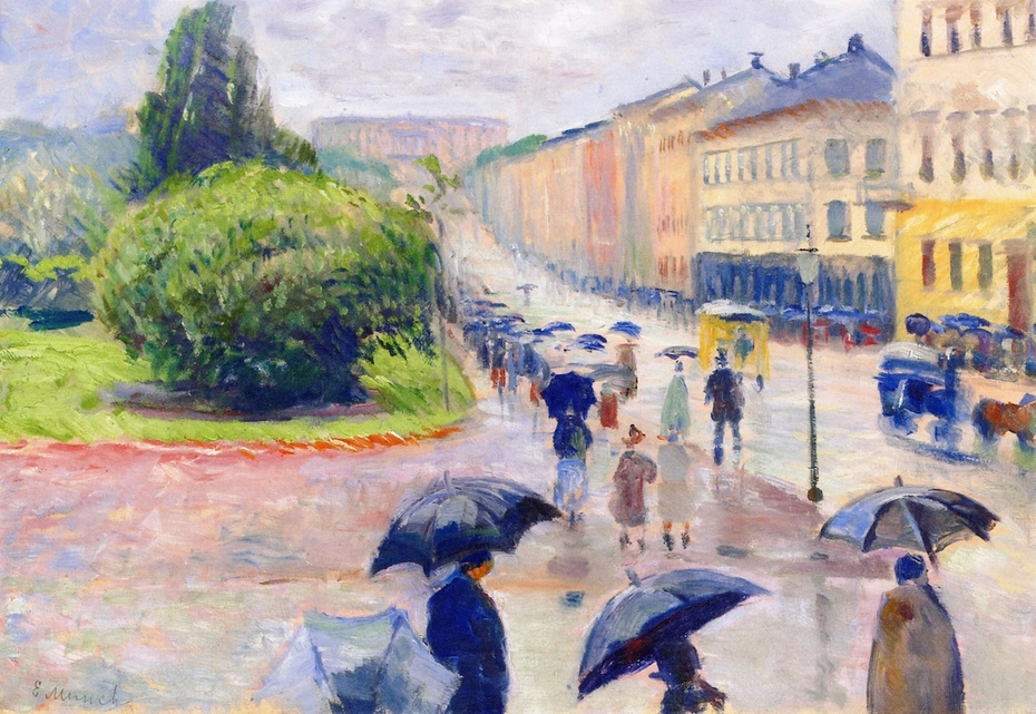 Karl Johan in the Rain