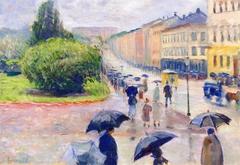 Karl Johan in the Rain