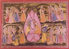 Krishna and Radha with Gopis