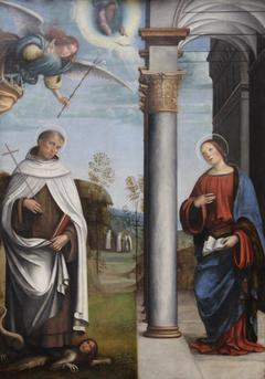 L'Annociation avec Saint Albert carmélite