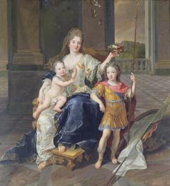 La Duchesse de La Ferté with the Duc de Bretagne and the Duc d'Anjou