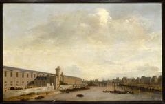 La Grande Galerie du Louvre, avec la porte Neuve et la tour de Bois