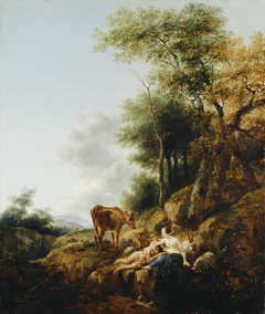 Landscape with a Nymph and a Satyr