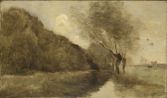 Landscape with a Stream and Willows near Gisors
