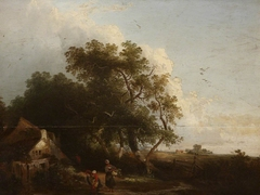 Landscape with Cottage and Peasants