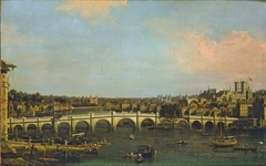 London: Westminster Bridge under Repair from the North