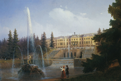 Look to the Large Cascade and Large Petergof Palace