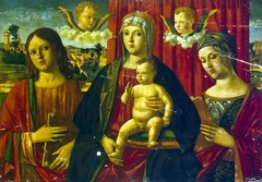 Madonna and Child with St John the Evangelist and Unknown Saint