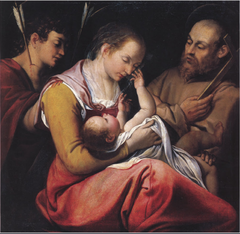 Madonna and Child with Sts Sebastian and Francis