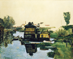 Maisons flottantes sur un fleuve (Houses Floating on a River)