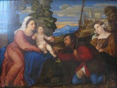 Maria mit dem Kinde, dem Hl. Rochus und einer Heiligen