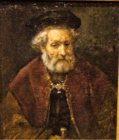 Old man with a beard and beret