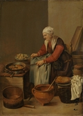 Old Woman in her Kitchen