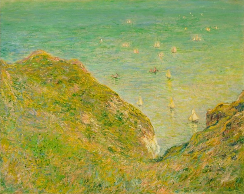 On the Cliff at Pourville Clear Weather