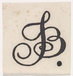 Ontwerp voor een monogram met de letters J en B